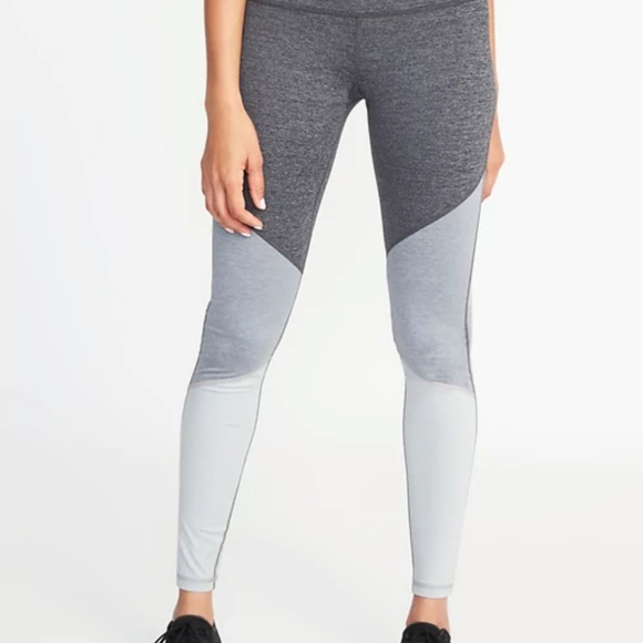 1e633ccdcb29f Old Navy Pants | Midrise Elevate Colorblock Compression Leggings ...